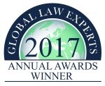 2017 Global Law Experts Annual Awards Winner
